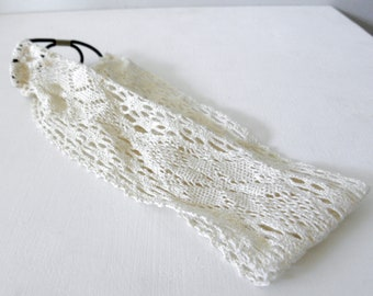 Simple cotton lace headband - Skinny or Wide