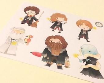 Harry Potter Themed Stickers - Perfect for Erin Condren, Plum Paper, Filofax, Kikki K