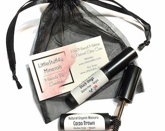 Natural Organic Mascara - Vegan Mascara - Gluten Free Natural Makeup - Mineral Mascara Black or Brown