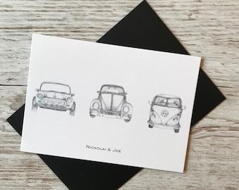 Vintage car Notecard \ Postcard