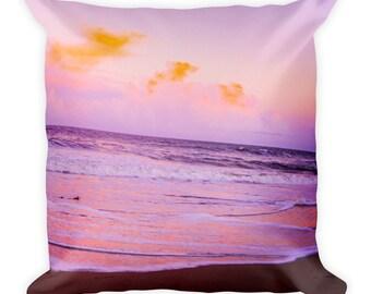 Sunset Beach Square Pillow