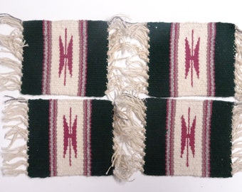 Native American Woven Textile Coasters - FREE SHIPPING