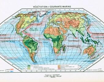 articles similaires 1930 carte du monde illustration originale larousse encadrement. Black Bedroom Furniture Sets. Home Design Ideas
