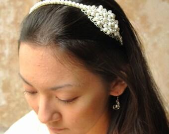 Adoree - Freshwater Pearl Bridal Headband Tiara
