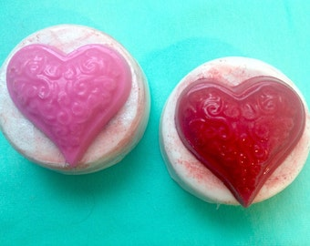 1 Dozen White Chocolate  Covered Oreos-Wedding Favors-Bridal Shower- Anniversary-Birthday Favors-Red Heart Favors-Dessert Table Treats