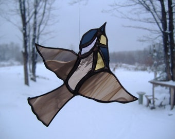 meadowlark, stained glass suncatcher