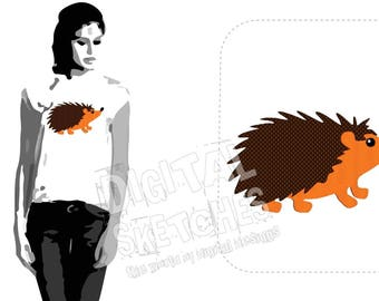 Hedgehog Machine Embroidery Design 4 Sizes