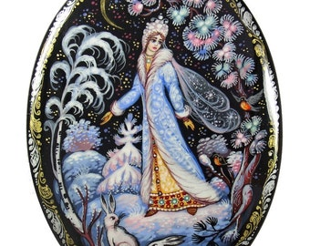 Kholui Russian Lacquer Box THE SNOW MAIDEN #3952