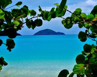 Travel Photography- Framed In St. Thomas, US Virgin Islands-Nature, Beach, Ocean, Seaside, Caribbean, Landscape, Fine Art Photography
