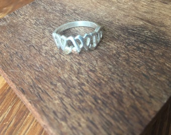 Black Hills Gold and Silver W.W.J.D. Ring Size 6.5 What Would Jesus Do
