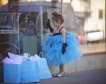 Tiffany Blue Dress -  Audrey Hepburn Dress - Tiffany Blue Flower Girl Dress - Breakfast At Tiffany's - Audrey Hepburn tutu dress