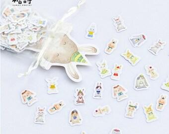 Bunny Rabbit sticker collection - 100 pcs