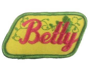 Vintage Name Patch - Betty - NEW OLD STOCK Bright Neon Groovy Retro