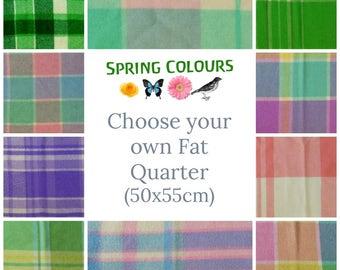 FAT QUARTER Wool felt blanket pieces 50x55cm - Vintage wool blanket pieces - Felted wool fabric blanket for CRAFT - Spring colours Australia