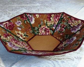 Reversible Hexagonal Fabric Bowl