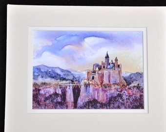 Home before dark by Jerrilyn Emison, castle medieval art