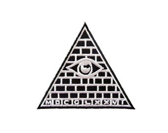All Seeing Eye Triangle Hippie Embroidery Patches Applique Iron on Patch