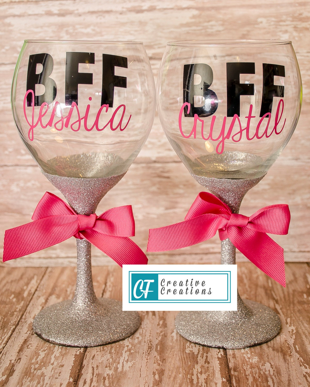 Cute BFF Wine Glasses