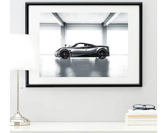 Pagani Huayra Door Down Side View, automotive photography, automotive prints, car photography, car prints, Italian supercar, @richardlephoto