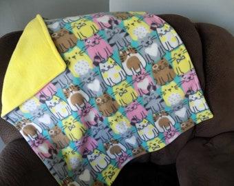 Happy Cats Fleece Blanket - Pet Fleece Blanket
