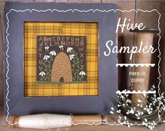 Hive Sampler Punch Needle Pattern