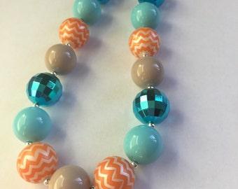 Moana Little Girl Necklace - Moana Birthday Necklace - Moana Chunky Necklace - Disney Moana Party - Little Girl Bubble gum Necklace