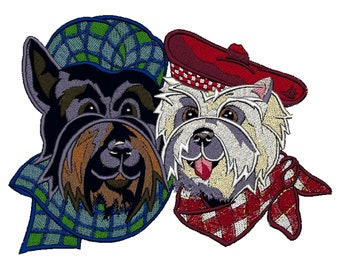 Scottie, Westie Dog Embroidered Towels, Dog Towels, Personalised Towels,Wesy Highland Terrier, Scottish terrier, Scottie 2