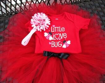 Valentine's Day Tutu Outfit Red Tutu Birthday Tutu Outfit