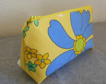 Cosmetic Bag - Floral Print Canvas