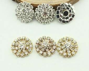 10pcs Sunflower Rhinestone Buckle,Rhinestone Buckle,DIY Hair Accessory