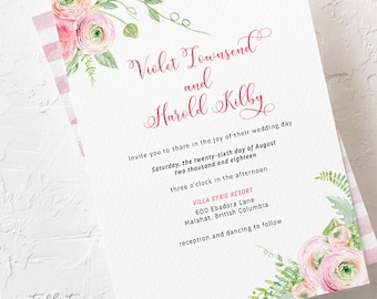 Ranunculus Days - Wedding Invitations (Style 13786)