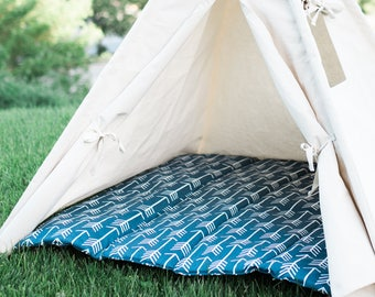 Arrow Teepee Mat, Kids Play Tent Cushion Mat, Two Sizes, Baby Mat, Play Mat, Quilted Teepee Mat, Choose From Several Colors