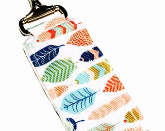 Fun Feathers Key Chain Lip Balm Holder, perfect for nurses, coaches, athletes, teachers and more!
