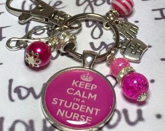 Student nurse keyring, Student nurse keychain, student nurse gift, nursing gift, nursing keyring