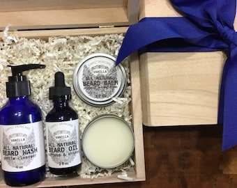 Beard Oil Birthday Gift for Boyfriend Gift for Mens Gift Set Beard Balm Beard Wash Beard Kit Gift for him Anniversary Gift Beard Groomin Kit
