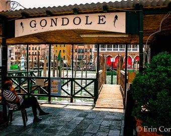 Gondolas in Venice Italy Print, Travel Photography Prints, Italy Photography Prints, Venice Prints, Gondolas, Venice, Italy, Photography,