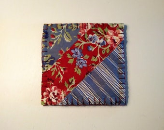 Coasters, Fabric Coasters, Quilted Coasters, Home Decor