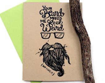 Weird Beard Greeting Card