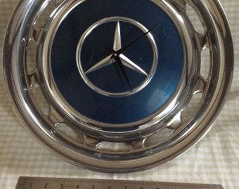 Vintage Mercedes hubcap clock