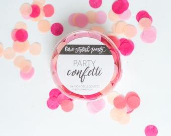 Confettis Party - Crush corail - corail, rose, fard à joues Confetti - décorations de fête corail