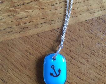 Turquoise Anchor Necklace