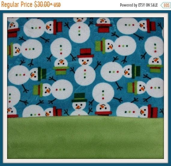 sale Minky Blanket -  Snowman print