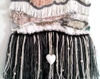 Wall weaving - Weaving modern - weaving - weaving boho-