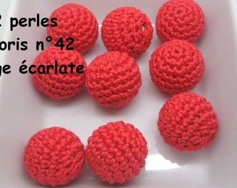 2 beads 20mm 42 color crochet