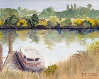 Delta Autumn - Houseboat on the River