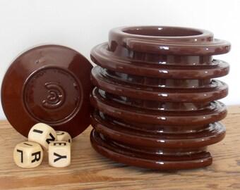 Box ceramic sugar - bowl - Vintage 60's - no screws
