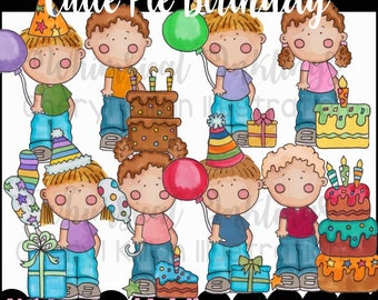 Cutie Pie Birthday Clipart Collection- Immediate Download