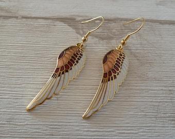 Dainty ethnic earrings, Wing earrings, Boho earrings, Gift for her, bohemian jewelry, Angel wings, Indian earrings, Everyday earrings