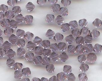 T4 5301 LA *** 20 bicone beads crystal Swarovski 5mm LIGHT AMETHYST