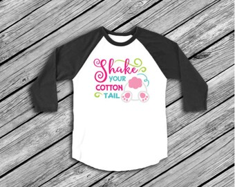 Easter Iron On, Shake your Cotton Tail, Printable, DIY Transfer, Iron on